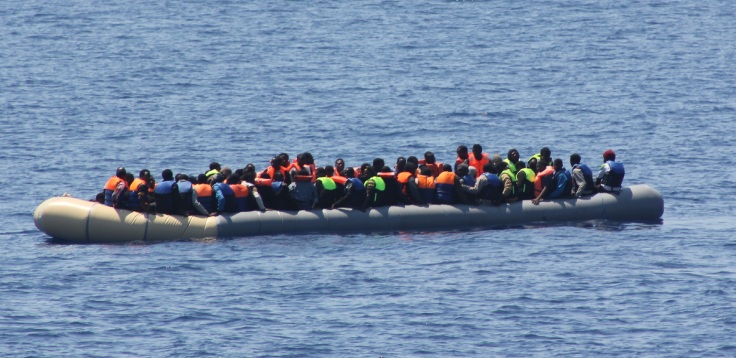Rescue of 98 migrants 19th of July 15 on a boat